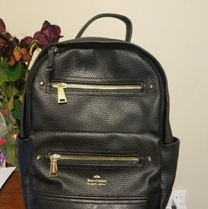 Juicy Couture Black Leather Backpack